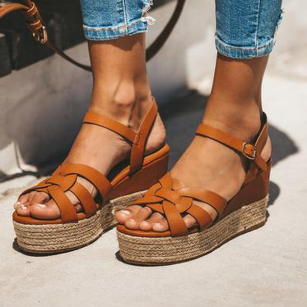 Oeak Wedges Sandals Shoes For Women Leather High Heels Sandals Summer 2019 Chaussures Femme Platform Sandals Plus SizeOeak Wedges Sandals Shoes For Women Leather High Heels Sandals Summer 2019 Chaussures Femme Platform Sandals Plus Size