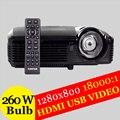 Mini Portátil UHP Proyectores DLP 7500 Lúmenes de Cine En Casa 3D Completo HD 1080 P Wifi Proyector de Vídeo 3D hdmi VGA Envío Android Palo
