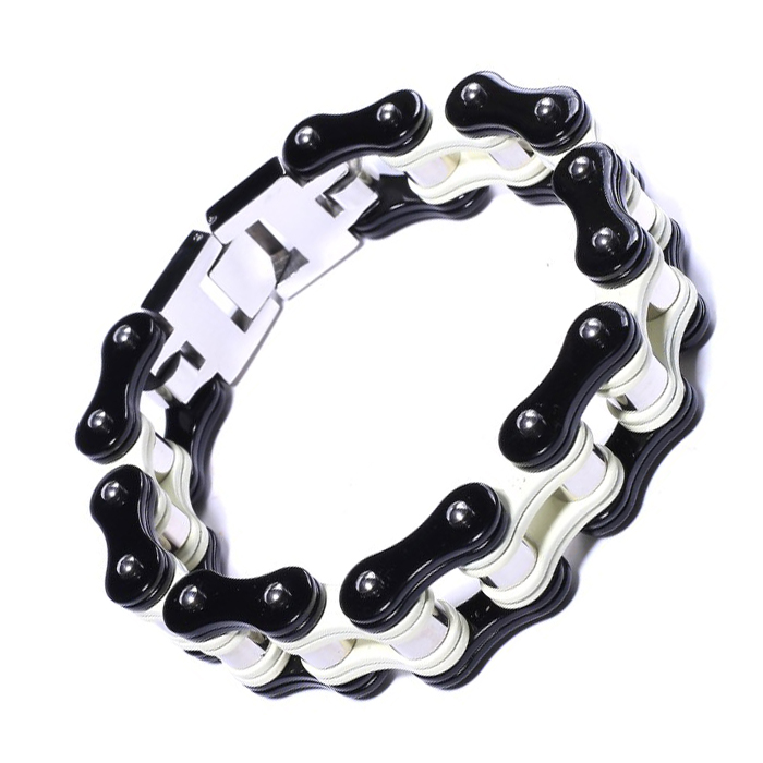 Stainless Punk Jewelry Friendship Biker Rock Punk Bicycle Bike Bracelet Men Bracelet Bangles Motorcycle Chain Charm in Chain Link Bracelets from Jewelry Accessories
