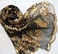 Shinning estilo de lentejuelas bufanda mujer del mantón Wraps Poncho envolver 10 unids/lote #1577