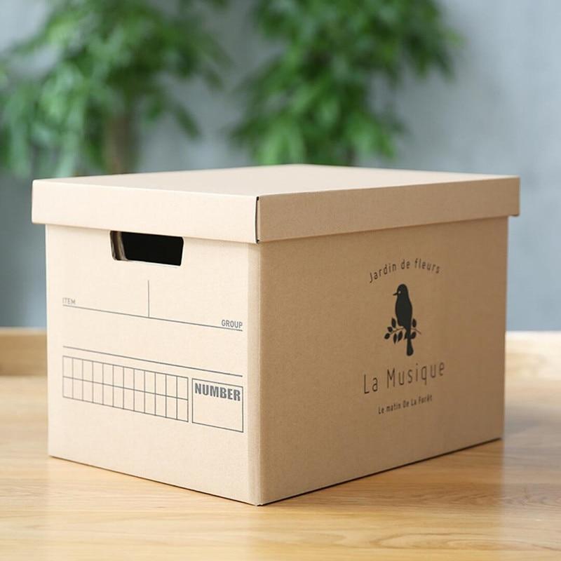 WCIC Paper Toy Container Storage Box Makeup Cosmetic Organizer Office Desktop Storage Bin Storage Boxes Cosmetic Storage Holder