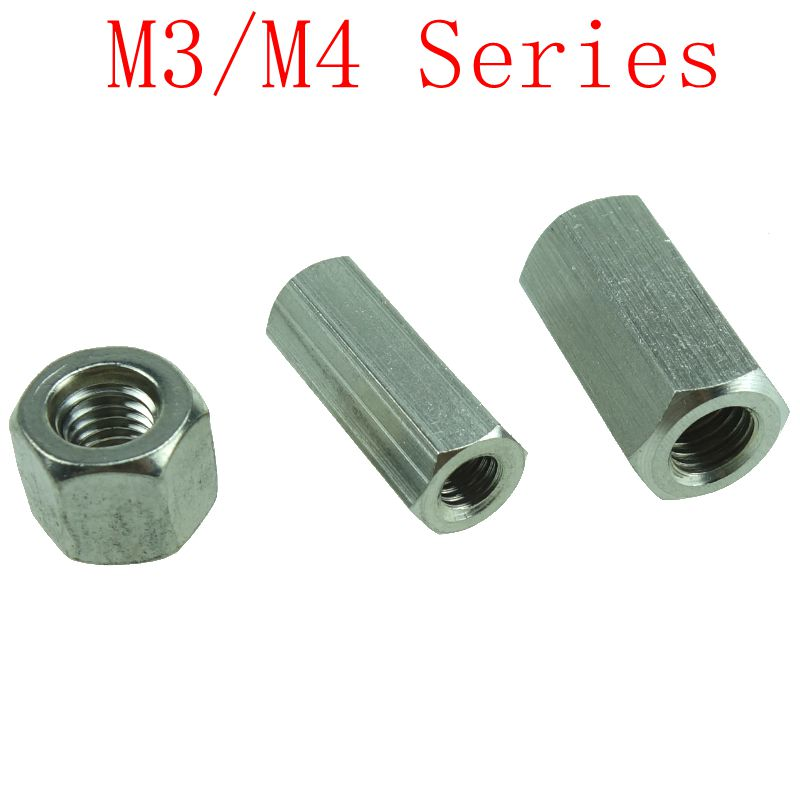 M3/<font><b>M4</b></font>*L <font><b>Brass</b></font> <font><b>Standoff</b></font> Spacer Female Nickel plated Spacing Screws <font><b>Brass</b></font> Threaded Spacer hex spacer image