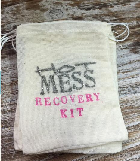 Custom Hot Mess Wedding Party Hangover Kits Jewelry Favor