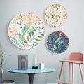 Скандинавский домашний декор, небольшой свежий цветок, холст, картина маслом, настенные картины для гостиной, круглые постеры, куадро декор...