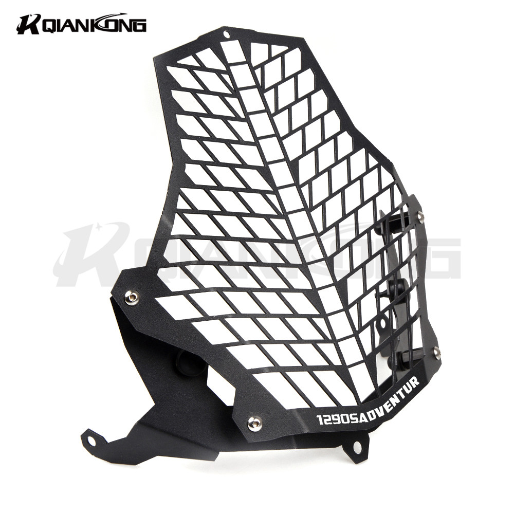 Motorcycle Headlight Grill Cover Head Light HeadLamp Guard For KTM 1190R 1290 Super Adventure 1190 Adventure motorcycle scooter electroplate front headlight headlamp head light lamp small mask cap cover shield large for yamaha bws x 125
