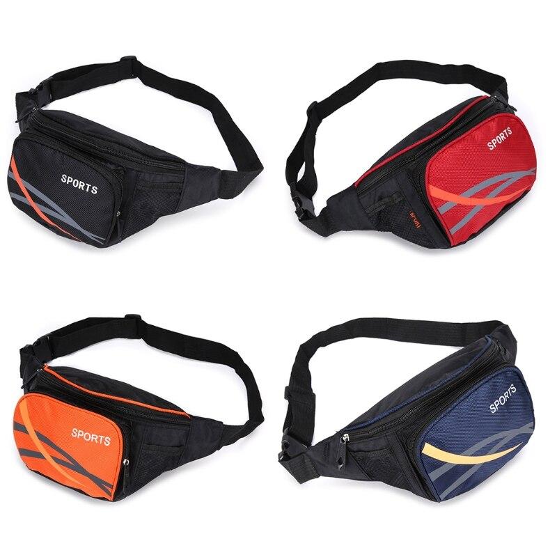 Durable Nylon Waist Bag Fanny Block With Pocket Mess Anti-Theft Bag Bum Mens Side Bag Fit 6