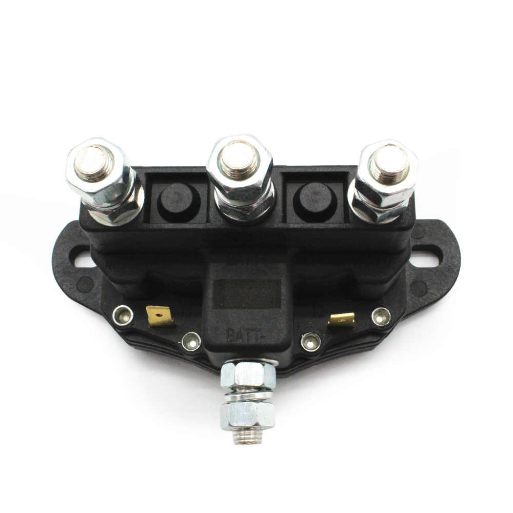 small resolution of  5 16 24 threaded studs 6 terminals 12v reversing polarity contactor relay winch