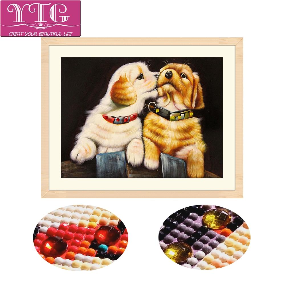 Hund, 5D, Special, Formad, Diamantbroderi, Djur, Full, - Konst, hantverk och sömnad