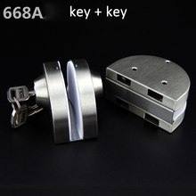 304 stainless steel Office frameless double Glass Door Lock no need punch locks for 10-12 mm Glass door with keys bolts