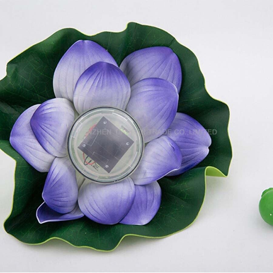 Солнечный свет lotus Солнечный свет Красочные водонепроницаемый открытый бассейн на солнечных батареях Светодиодные Пейзаж Цветок лотоса