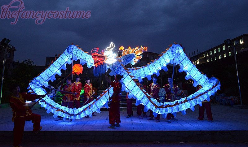 18m Längd Storlek 4 Blå Silke Kläder Belysning LED Ljus Kinesisk - Maskeradkläder och utklädnad