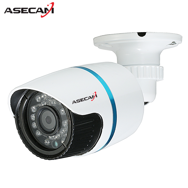 HD 720P IP Camera 48V POE White Bullet Metal Onvif WebCam CCTV 24LEDS Infrared Night Vision Security Network Surveillance new waterproof ip camera 720p cctv security dome camera video capture surveillance hd onvif cctv infrared ir camera outdoor