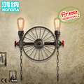 Free Shipping American Vintage Wall Lamp Antique Iron Lamp Personality Balcony Lamps