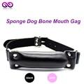 Black Rivets Stick Mouth Gag Dog Bone Cosplay Fetish Restraint Bondage Adult Game for Couples Flirting NoveltySex Products Toys