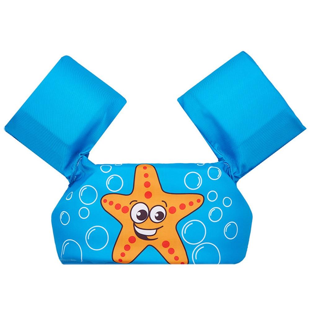 Двойные подушки безопасности надувные руки круги дети повязки картонные лампы в форме дельфинов Лебедь плавательный бассейн безопасный для воды Swimmingpoolforkid - Цвет: starfish