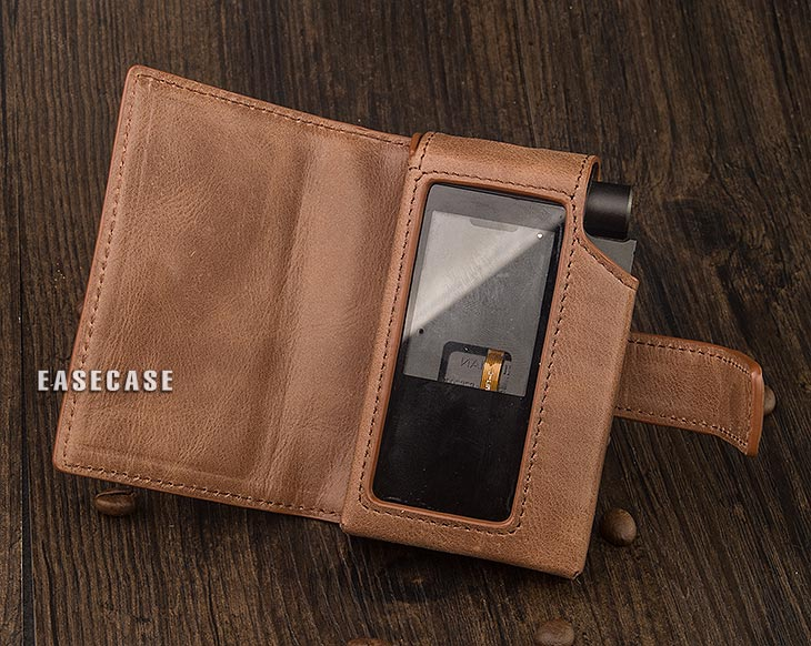 E4 Custom Made Genuine Leather case for HIFIMAN R2R2000-in Phone Pouches from Cellphones & Telecommunications