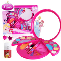 Disney Kids Girls Princess Makeup Box Children Pretend Play Toys Water soluble Set Snow Girls Play House Party Gift Toys 2018