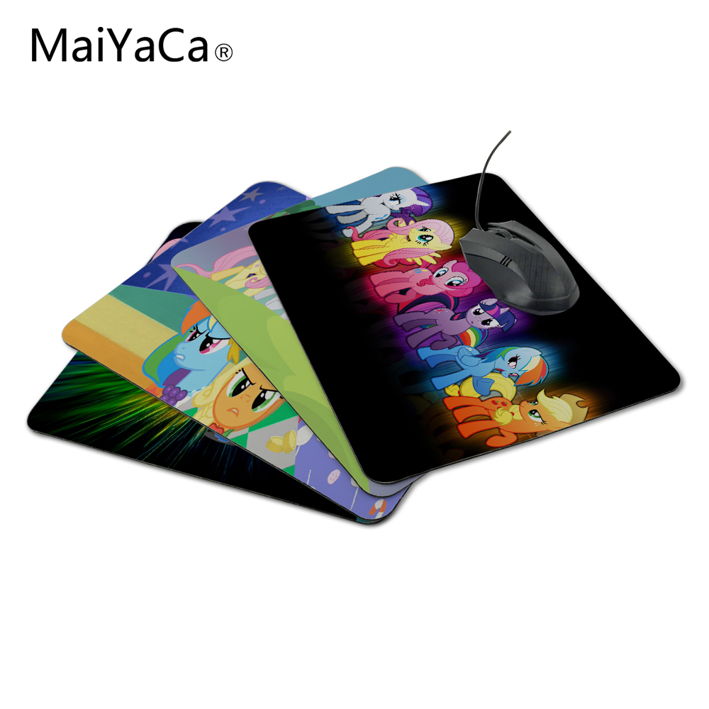 MaiYaCa New Arrival Customized My Little Pony Cute Design Game Gaming Durable PC Anti-slip Mouse Mat for Optical/Trackball Mouse