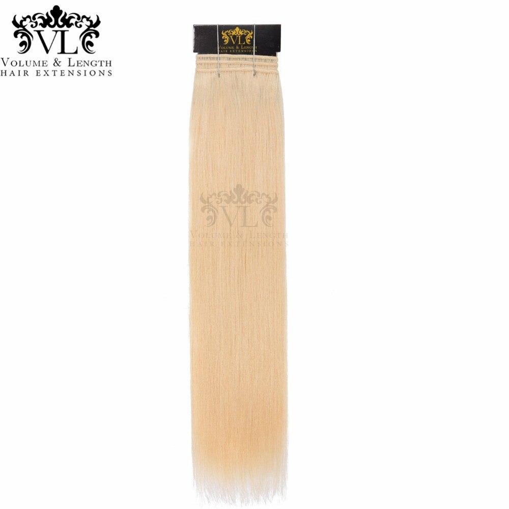 VL Salon Professional утка 1 шт. Светло-русый прямой человеческие волосы сотка 100% remy волос с бесплатной доставкой #24