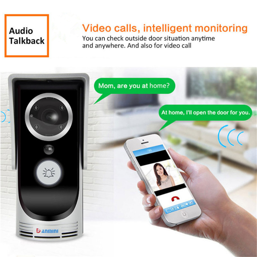 Smart 720P IP Camera WiFi Wireless Video Doorphone Video Intercom System Waterproof IOS Android APP Mobile 3.0MP Doorbell Camera smart led table lamp desk lamp with wifi ip camera app for android ios phone hd1080p video camera audio recording