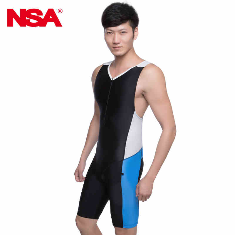ФОТО NSA tri suit BOYS competition knee length men's training racing swimwear two piece ironman triathlon suit sport swimwear