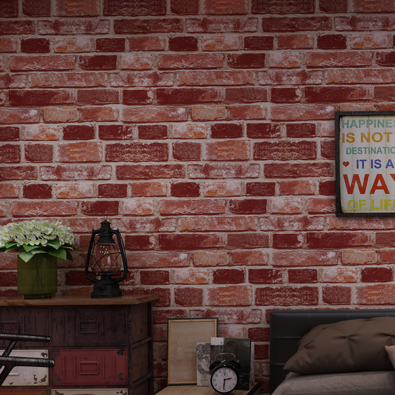 New Chinese vintage Nostalgic Pattern Non-woven Wallpaper 3d Brick Cafe Bar Restaurant Gray Red Brick Wall papers decor homeNew Chinese vintage Nostalgic Pattern Non-woven Wallpaper 3d Brick Cafe Bar Restaurant Gray Red Brick Wall papers decor home