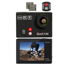 Top Deals GEEKAM Sports Waterproof Camera 4K HD Camera WIFI Underwater Sports DV Digital Camera(Black)