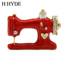 H: hyde Thimble Jarum Benang Penjahit Jahit Mesin Bros Wanita Pin Bros Enamel Denim Jaket Pin Lencana Hadiah Perhiasan(China)