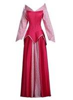 2017 Adult Custom Made Princess Aurora Cosplay Sleeping Beauty Costume Dress Christmas Party Halloween Costumes