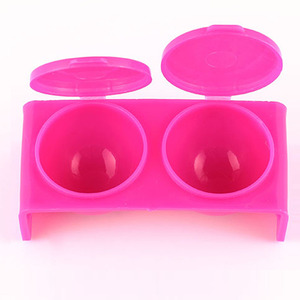 ROSALIND 1PCS Acrylic Cup 2018 New Plastic Acrylic Powder Double-lid Dappen Dish Pink or White 3D Molding Nail Art Tools