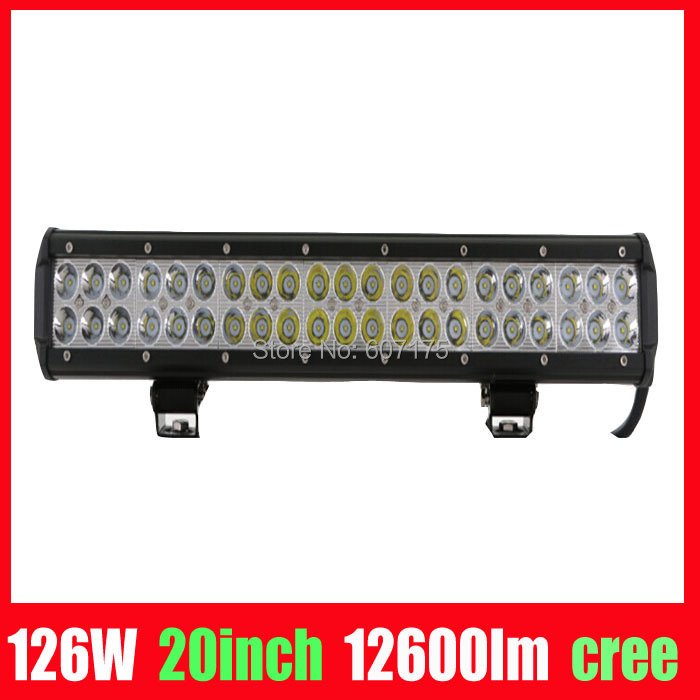 factory wholesale 20inch 126w cree chip led light bar 9-32v high power led offroad light led workling light free shipping