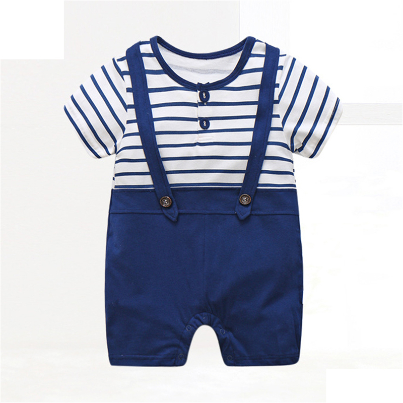 Baby Boy Clothes Summer Baby Rompers Gentleman Newborn Baby Clothes Roupas Bebe Infant Jumpsuits Kids Clothes Baby Girl Clothing summer 2017 navy baby boys rompers infant sailor suit jumpsuit roupas meninos body ropa bebe romper newborn baby boy clothes