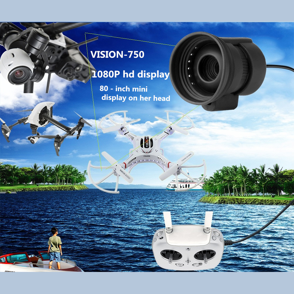 80 inch Monocular Mini Micro Display HD Night Vision with Headband Goggles AV Series for FPV