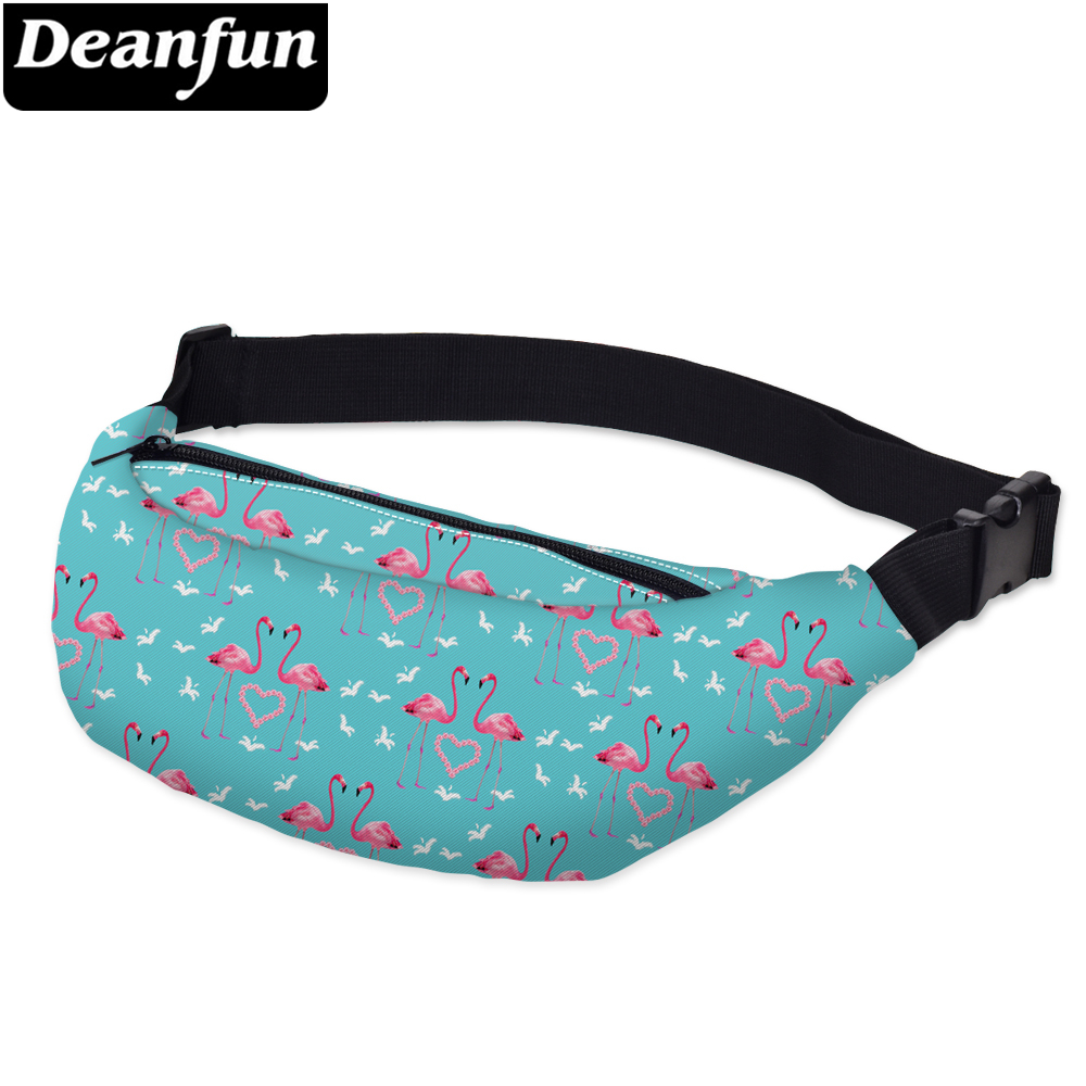 Deanfun 3D Printed  Waist Bags Flamingo With Adjustable Belt  Fanny Pouch YB26