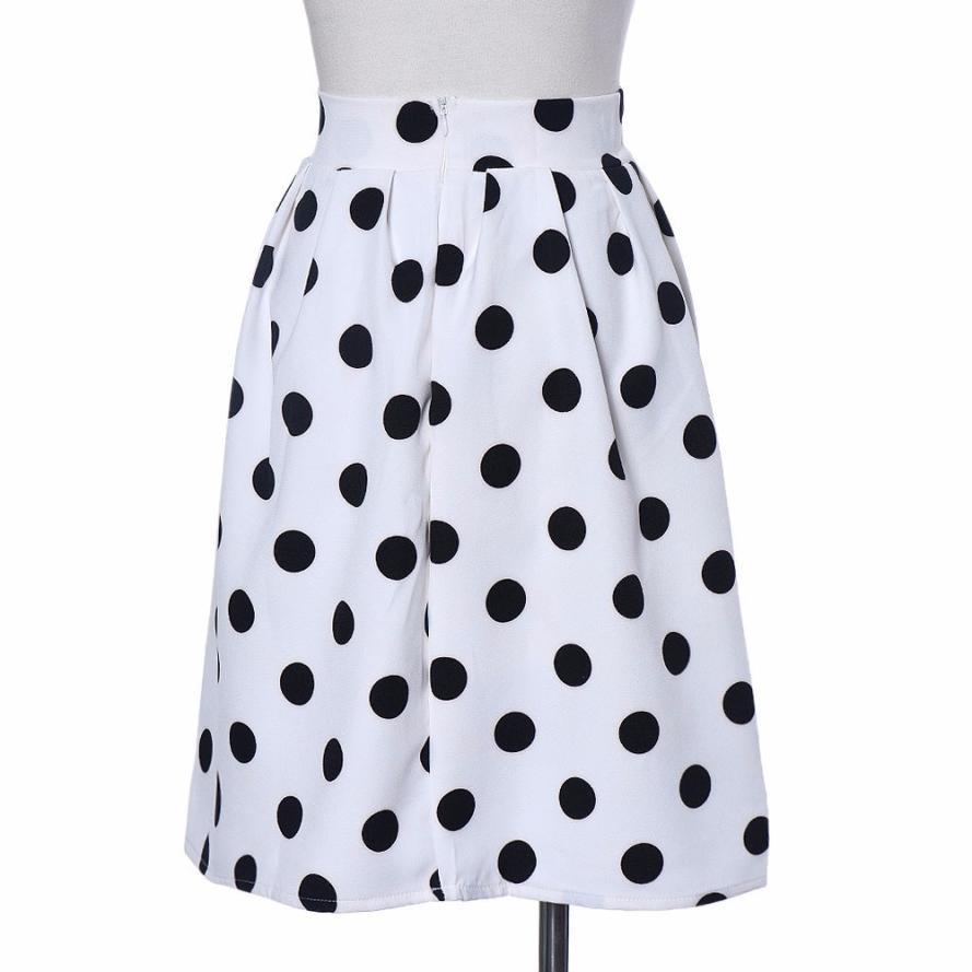 Frauen Röcke Gepunkteten Rock Knie-Länge Täglichen Dach Rock für Mädchen Büro Dame Kleidung 18Mar23