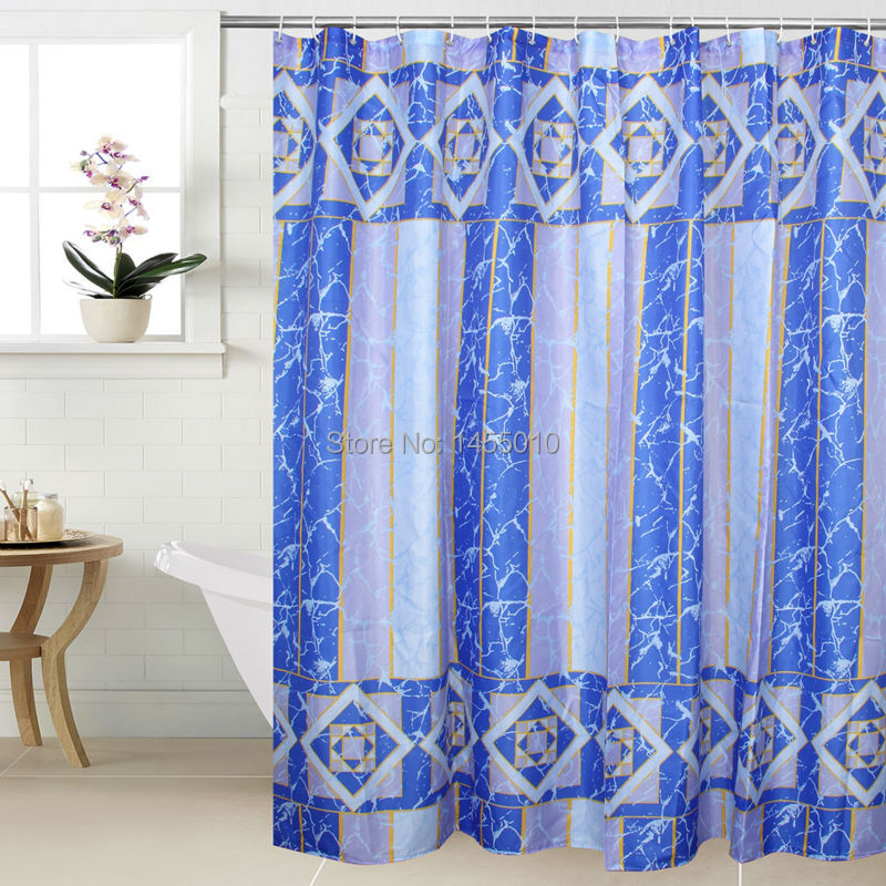 Happy Tree WIDEN Polyester Crack Vattentät Thicken Shower Curtains Terylene Badrum Curtain Long Fabric Bath Curtain 240cm