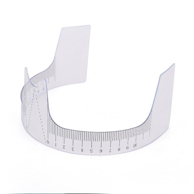 1PC Reusable Semi Eyebrow Guide Ruler Microblading Calliper Stencil Makeup Permanent Eyebrow Ruler Eye Brow Measure Tool 3