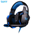 BOFIT 3.5mm Over-ear Game Gaming Headphone Headset Earphone Headband with Mic Stereo Bass LED Light for PC Game Music Headset