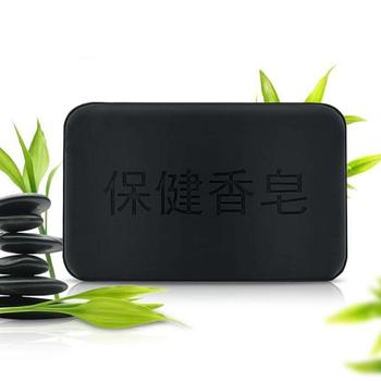 40g Black Bamboo Charcoal Soap Face Body Clear Anti Bacterial Tourmaline Remover Acne Soap Charcoal Savon Propolis Charcoal Soap 2