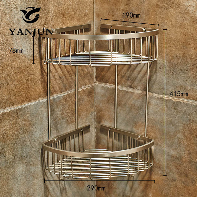 Online Shop Yanjun 304 Stainless Steel Brushed Corner Shelf Shower ...