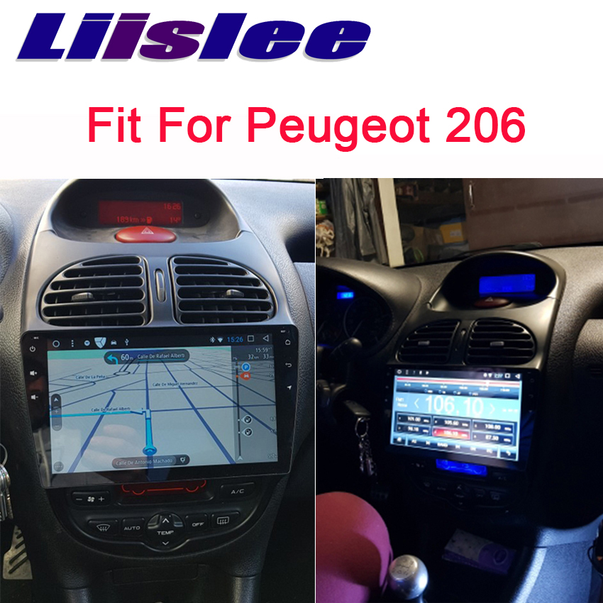 Liislee For Peugeot 206 2005 2009 2 din Android Car Navigation GPS Audio Video Radio HD
