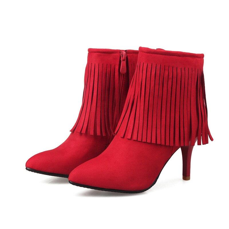 Morazora gris Gland Femme rouge Mince Nubuck Femmes Sexy En Automne Cuir Mode Noir Pu Talons Printemps bleu Cheville Pour Lady rose Bottes Chaussures ROqRwCr