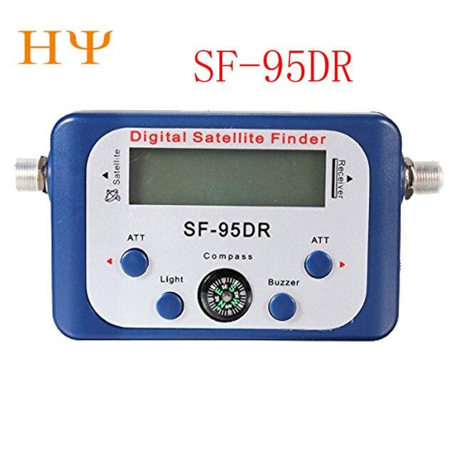 Satellite Finder SF-95DR Meter Satlink Receptor TV Signal Receiver Sat Decoder Satfinder Compass LCD FTA