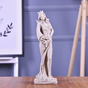 Image 2 - BUF 32 см песчаник белая богиня богатства Статуя смолы ремесло Домашняя Декоративная скульптура Европейский Простой декор украшения подарки
