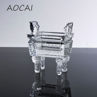 AOCAI 105*80*55mm white Integrity tripod Chinese ding Home Decor Decoration Crafts Chinese ancient items artwork gift