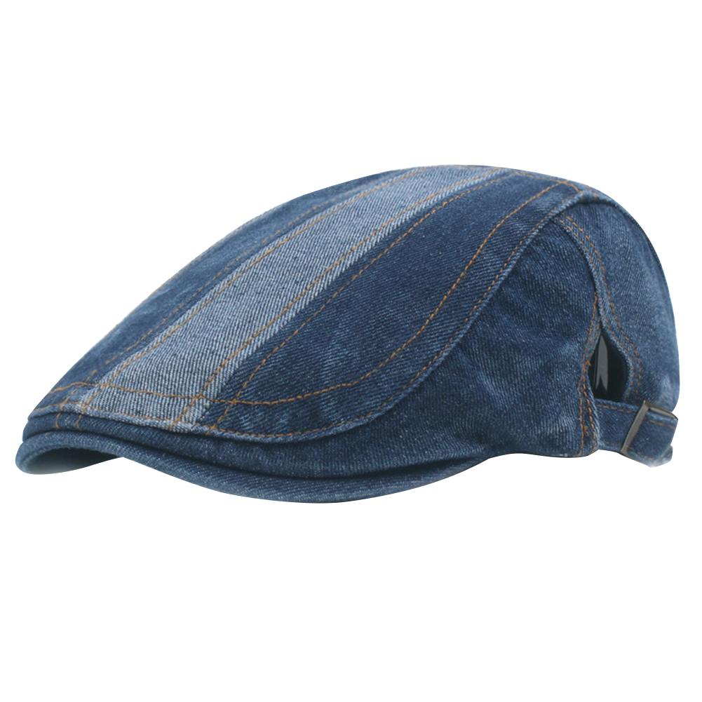 Driving Fashion Wear Resistance Gift Cotton Solid Hats Beret Washable Flat Casual Men Outdoor Adjustable Cap