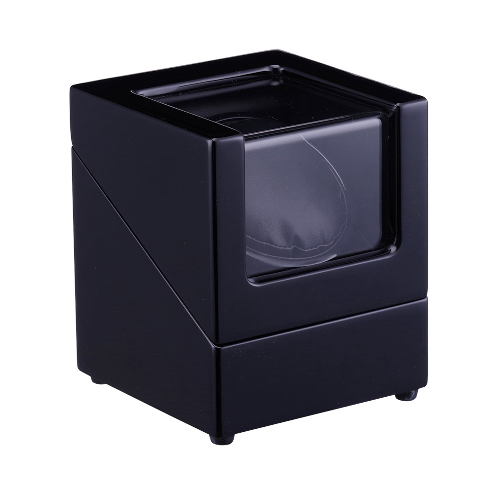 Watch Winder ,LT Wooden Automatic Rotation 1+0 Storage Case Display Box the new box(all black) 2018New style watch winder lt wooden automatic rotation 4 0 watch winder storage case display box the new style all carbon
