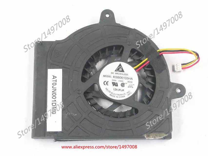 Free Shipping For DELTA  KSB06105HA -BD49  DC 5V 0.40A 3-wire 3-pin connector 30mm  Server Blower fan free shipping for delta afc0612db 9j10r dc 12v 0 45a 60x60x15mm 60mm 3 wire 3 pin connector server square fan
