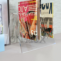 ONELUX V Shaped Acrylic Magazine Stand Rack Lucite Plexiglass Newspaper Brochure Holders Various Colors