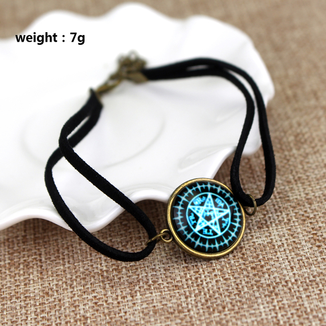 Supernatural Glass Dome Leather Bracelet
